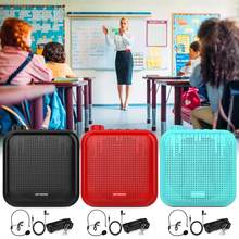Amplificador de voz de gosear 12w 1200mah professores multifuncionais amplificador de voz portátil com microfones para reunião de discurso turístico