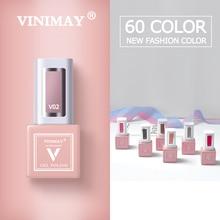 VINIMAY 60 สีเล็บเจลโปแลนด์ Vernis กึ่งถาวร UV เล็บเจล LAK Primer Soak Off เจลเล็บเจลเคลือบเงา gelpolish เล็บ
