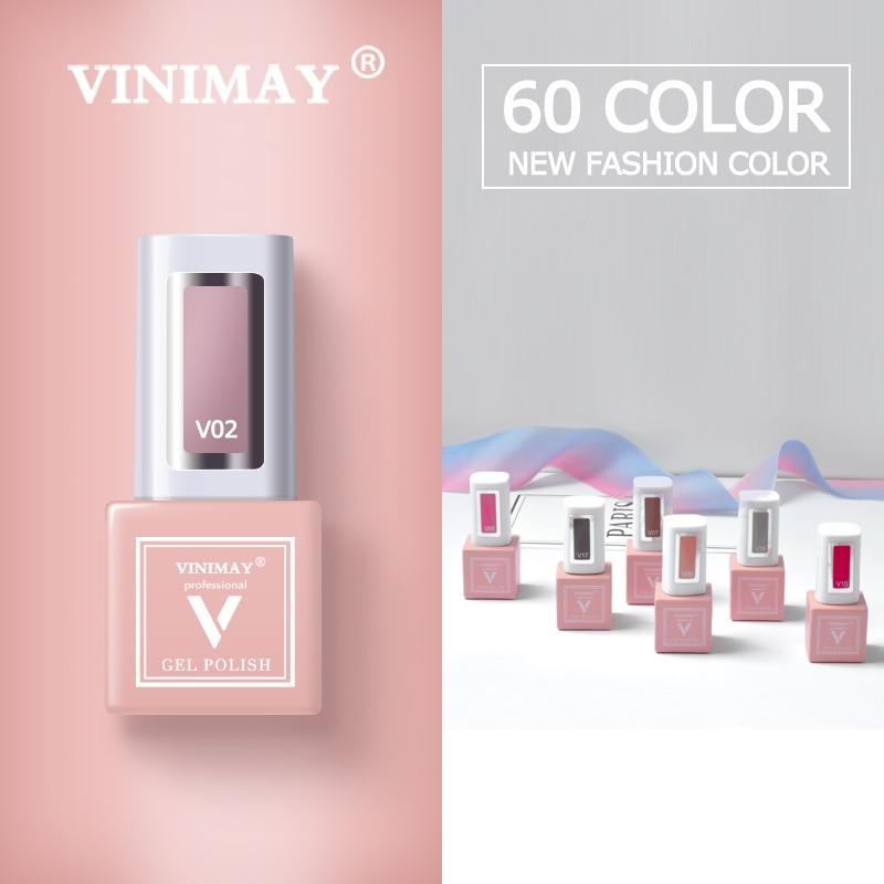 VINIMAY 60 Цветной Гель лак для ногтей vernis полуперманентный УФ гель для ногтей лак грунтовка отмачиваемый Гель лак для ногтей Полировочный Гель для маникюраГель для ногтей    АлиЭкспресс