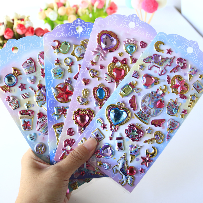 1set/lot Stationery Stickers Gem Fun Stickers Diary Decorative Mobile Stickers Scrapbooking DIY Craft Stickers