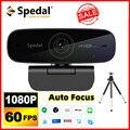 Веб-камера Spedal AF926 Full HD1080p 60FPS с автофокусом, USB-камера с микрофонами для Facebook, YouTube, конференций, онлайн-обучения