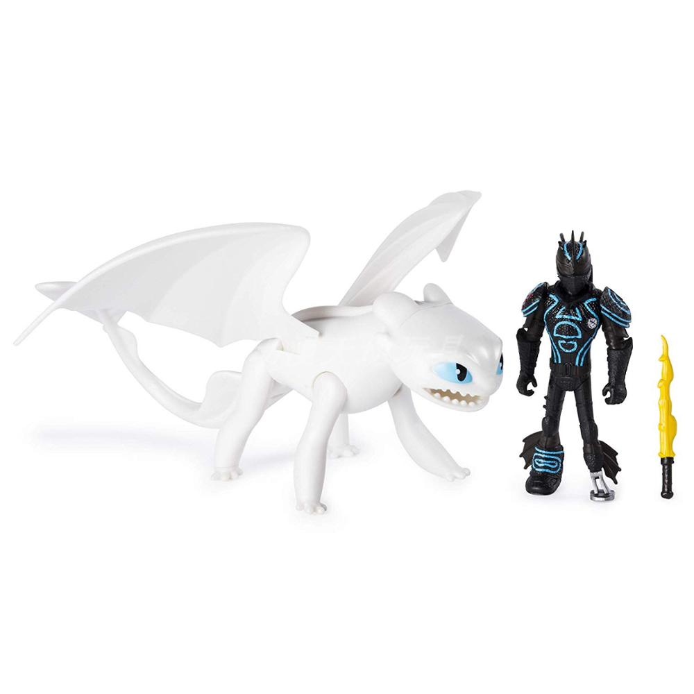 Hot 9 Inches Night Fury Black/white Toothless PVC Dragon Model Figure Toy Movie Dragon 3 Action Toys Gifts