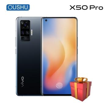Перейти на Алиэкспресс и купить Vivo X50 pro 5G 60x Super Zoom Snapdragon 76 5G Celular 4315 мАч 33 Вт Dash Charge NFC 48MP Quad Rear Camera 6,56 ''90 Гц смартфон