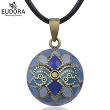 Eudora Angel Caller Purple iris  Harmony Ball Pendant Necklace Pregnancy Chime Ball Bola Pendant Wishing Balls Jewelry for women