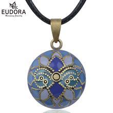 Eudora melek arayan mor iris Harmony topu kolye kolye gebelik Chime topu Bola kolye isteyen topları takı kadınlar için