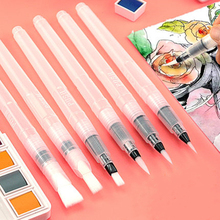 Markers Watercolor-Brush-Pen Art-Supplies Painting Drawing Soft for Beginner 6pcs Portable