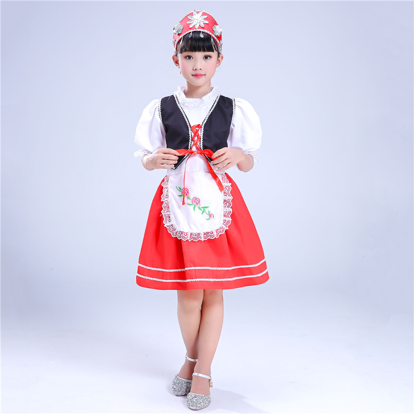 Children Russian National Performance Clothing Modern Girl Boy Folk Dance Costumes Child Princess Party Chinese Dance Dress