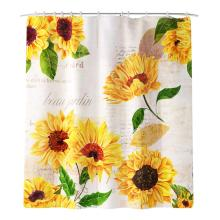 Household Bathroom Daisy Printing Shower Curtain Daisy Curtain Waterproof Fabric Shower Curtain portrait shadow waterproof fabric shower curtain