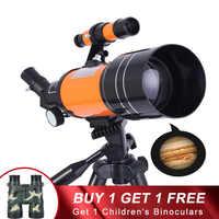 Hd telescópio astronômico profissional visão noturna espaço profundo vista estrela lua 1000 telescópio monocular