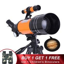 Telescopio astronómico profesional HD Visión Nocturna espacio profundo estrella vista Luna 1000 telescopio Monocular