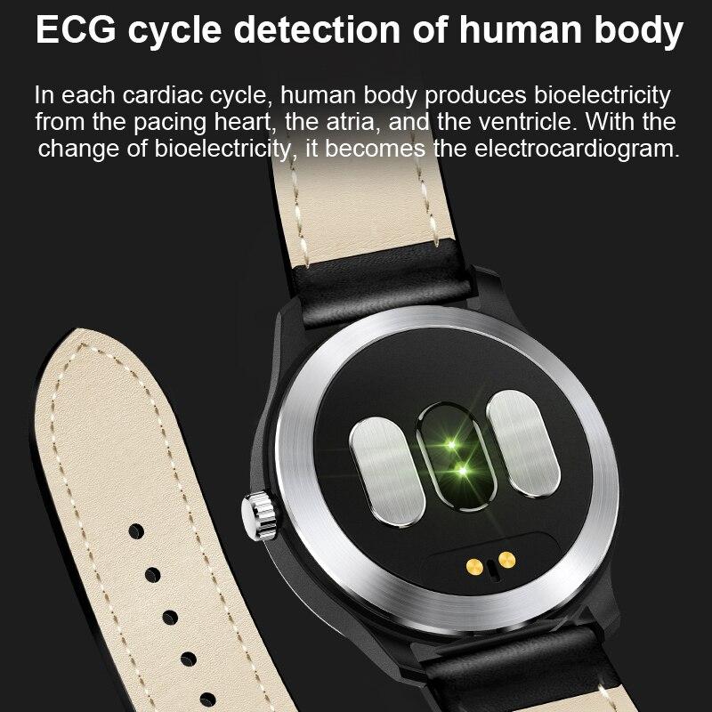 LIGE 2019 nuevo reloj inteligente N58 ECG para hombre pulsera deportiva impermeable IP67 Monitor de frecuencia cardíaca pulsera inteligente de presión arterial + caja - 4