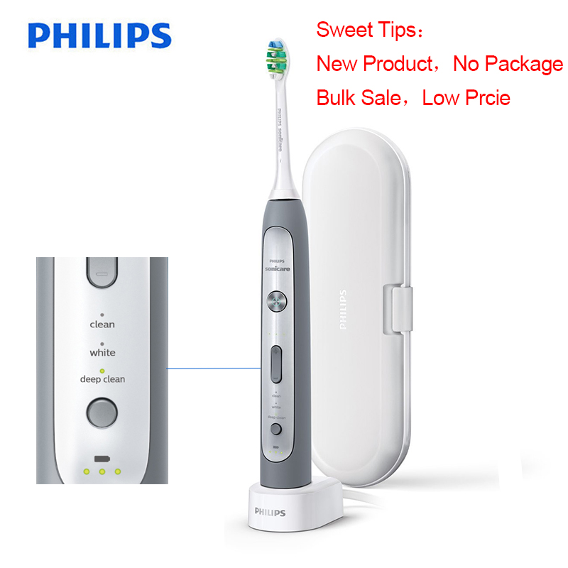 Philips 100% Original Philips Sonicare Flexcare Platinum HX9150 Rechargeable Electrict Toothbrush White & Gray image