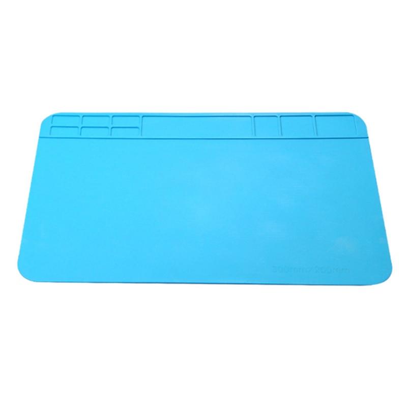 Insulation Pad 300*200mm Heat-Resistant Silicone Soldering Mat Work Pad Desk Platform Solder Rework Repair Tool Station