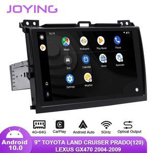 "Image 3 - 9 ""Android10 רכב רדיו עבור טויוטה לנד קרוזר פראדו 120/לקסוס GX470 2004 2009 GPS Carplay אנדרואיד אוטומטי DSP SPDIF סאב DAB"