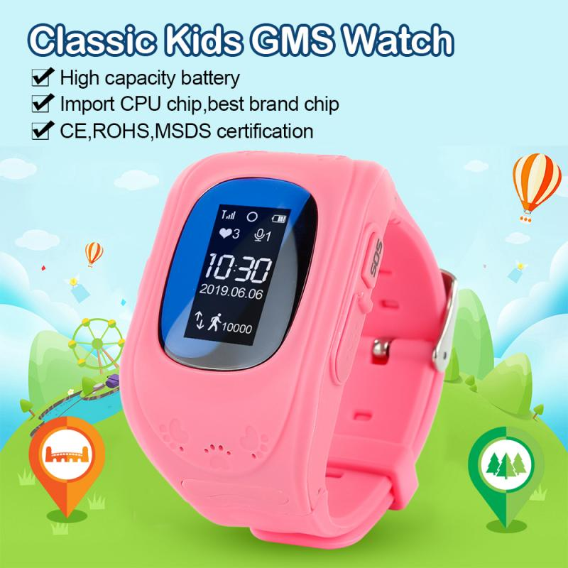 <font><b>Q50</b></font> children <font><b>Smart</b></font> <font><b>watch</b></font> GPS tracker <font><b>Kids</b></font> Wristwatch OLED screen SOS Call Anti Lost safety tracker for iOS Android baby Gift image