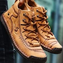 Warm Boots Winter Shoes Ankle Comfortable Split Leather Men's Fashion High-Quality Fur