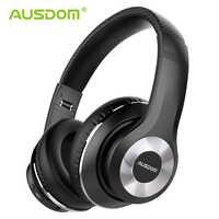 Ausdom novo anc10 v5.0 sem fio bluetooth fones de ouvido dobrável com cancelamento ruído ativo fone de ouvido sem fio com microfone para o telefone