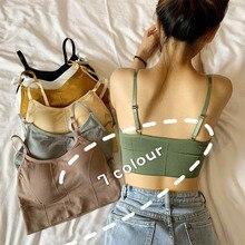 Bra Seamless Tube-Top Lingerie Camis Streetwear Sexy Sports Women Back-Bra Daisy-Pattern
