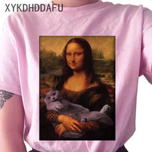 Mona Lisa T Shirt Summer Women Graphic Aesthetic Tshirt Funny Ulzzang Female T-shirt 90s Streetwear Vintage Clothing Tops Tee(China)