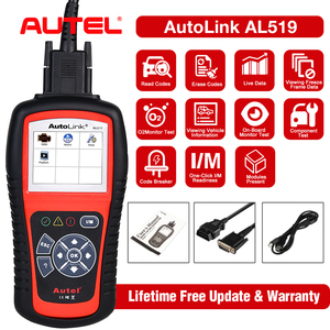 Image 1 - Autel 100% Originl OBD2 Scanner Car Diagnostic tool Code Reader AutoLink AL519 OBD Automotive Tool  EOBD  Automotive Scanner