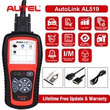 Autel 100% Originl skaner OBD2 narzędzie diagnostyczne do samochodów czytnik kodów AutoLink AL519 OBD narzędzie motoryzacyjne EOBD skaner samochodowy