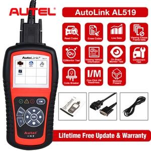 Image 1 - Autel ماسح ضوئي للسيارة ، أداة تشخيص تلقائية AL519 ، قارئ رمز OBD2 ، أصلي 100%