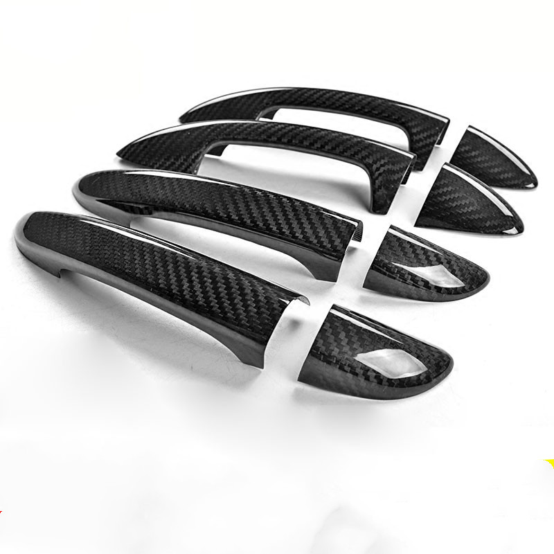 For Volkswagen Passat CC b6 b7 3c b7 5 7 5 sedan Varian Chrome Carbon Fiber Car Door Handle Cover Trim Car styling  Accessories