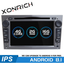 2 Din Android 8.1 Car Multimedia Player For Opel Vectra C Zafira B Corsa D C Astra H G J Meriva Vivaro GPS Navigation Radio 2 GB 7inch autoradio 2din car dvd player for opel astra h vectra c zafira bcorsa c d g meriva vivaro gps nav 3g bt swc mirror link