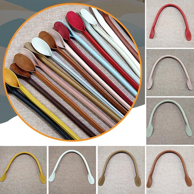 1 Pair PU Bag Belt Bag Strap New Round Ear DIY Purse Strap Solid Color Bag Handles Obag Handles Accessories For Bags Wholesale