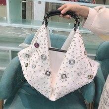 2020 nowa europejska i amerykańska torebka damska o dużej pojemności damska torebka damska Rhinestone kobiece torby listonoszki diamentowe