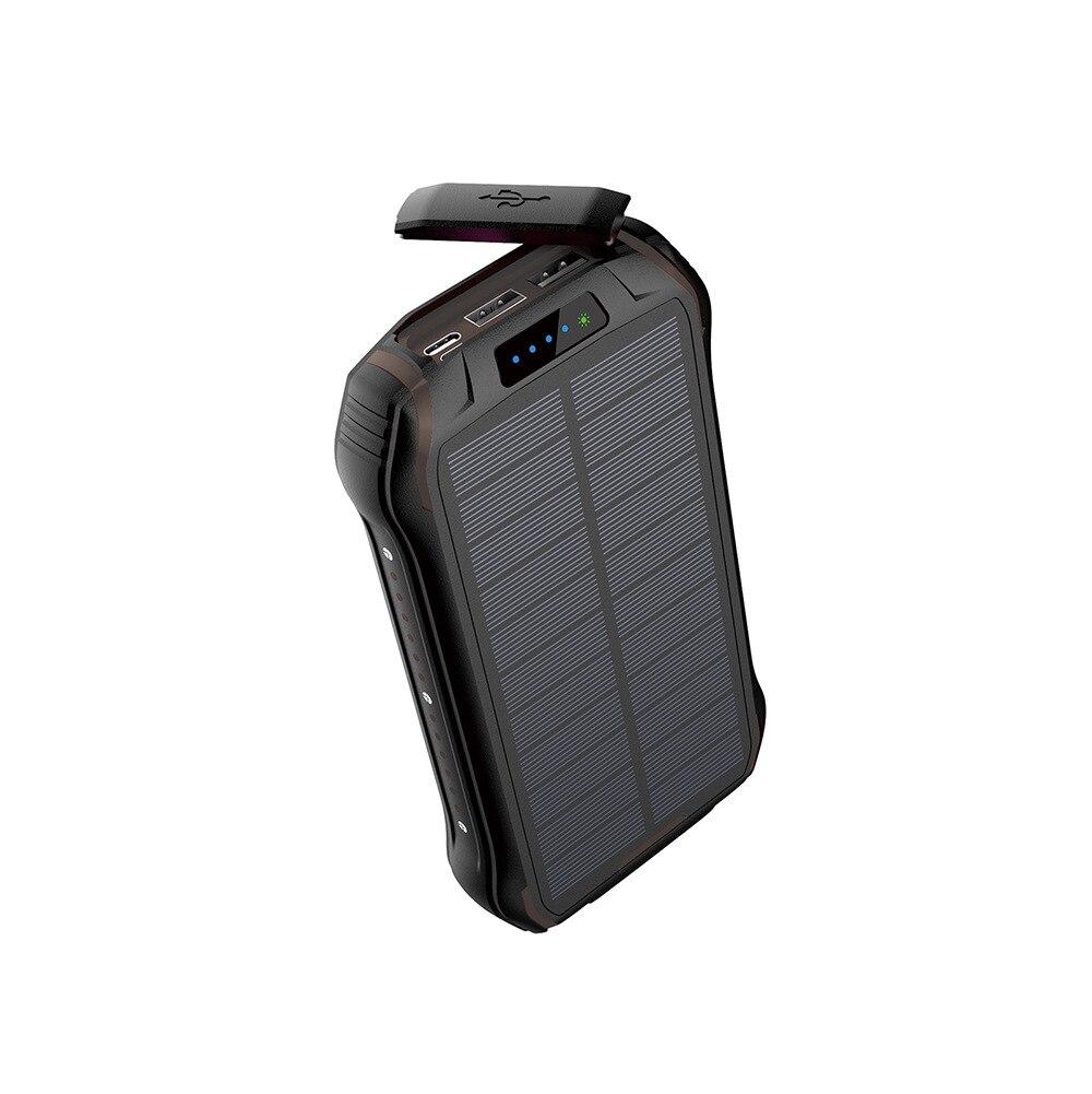 26800 мАч Солнечный внешний аккумулятор 3.1A Быстрая зарядка водонепроницаемый внешний аккумулятор Внешняя батарея Зарядка для смартфона