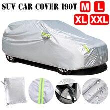 190T מלא לרכב כיסוי עמיד למים אנטי שריטה שלג כיסוי שמש מגן לנשימה M/L/XL/XXL אוניברסלי SUV עבור פולקסווגן גולף 4 7