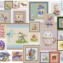 Cross-Stitch-Kit Embroidery Diy Snow Rabbit Cartoon Thread Canvas Needlework Design 14CT