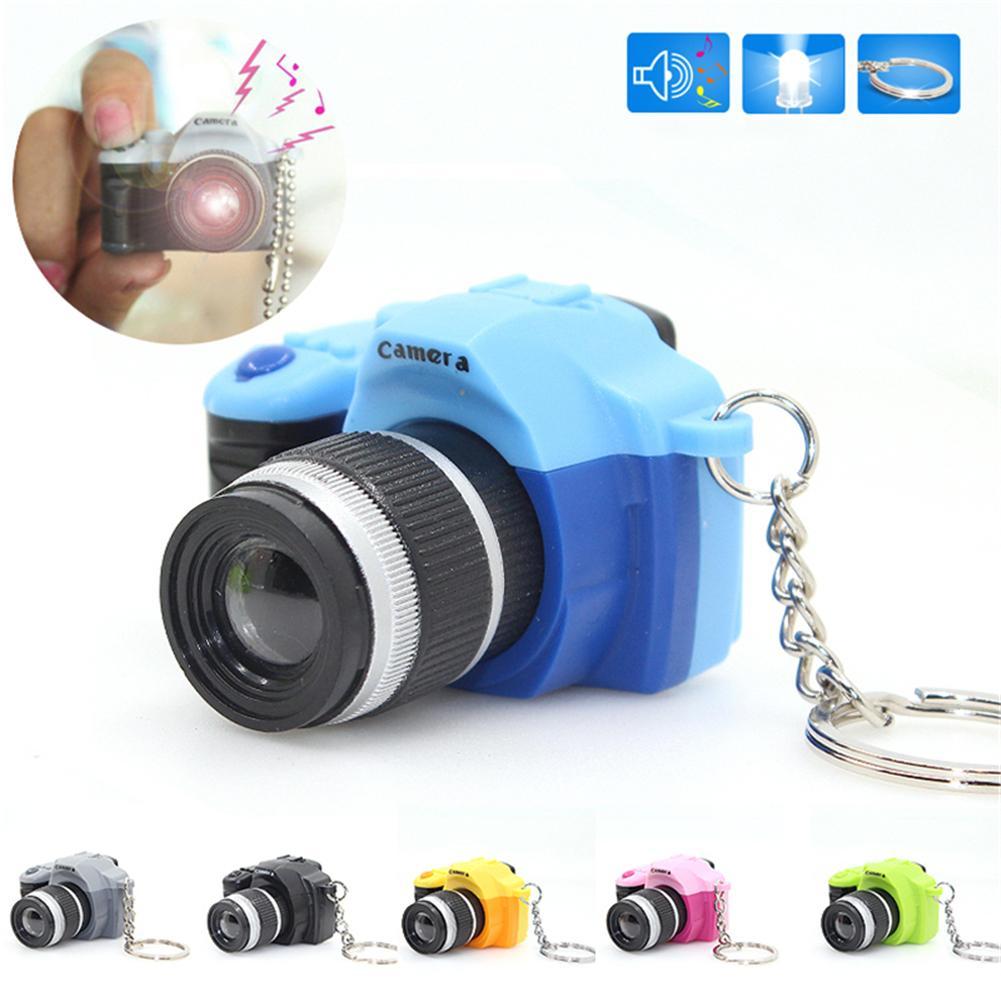 LED Camera Flashing Toys For Kids Digital Camera Keychain Luminous Sound Flash Light Pendant Bag Accessories Children Camera Toy
