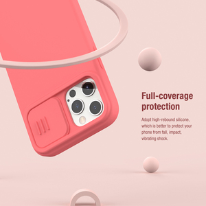 Image 5 - NILLKIN Magnetic Case For iPhone 12 Pro Max Liquid Silicone Soft Case Slide Camera Protect Privacy Back Cover for iPhone 12 Pro