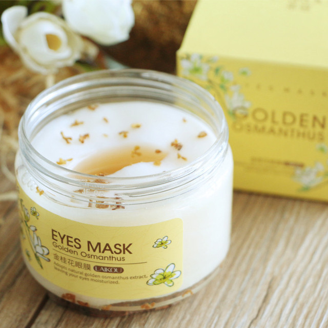 [80 pcs] brand laikou Golden Osmanthus Eye Mask Remove Wrinkle Puffiness Dark Circles Bags ,High Quality a mask for eyes care 2