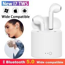 I7s TWSหูฟังไร้สายบลูทูธ5.0หูฟังหูฟังสเตอริโอหูฟังชุดหูฟังBinaural CallสำหรับXiaomi iPhoneโทรศัพท์