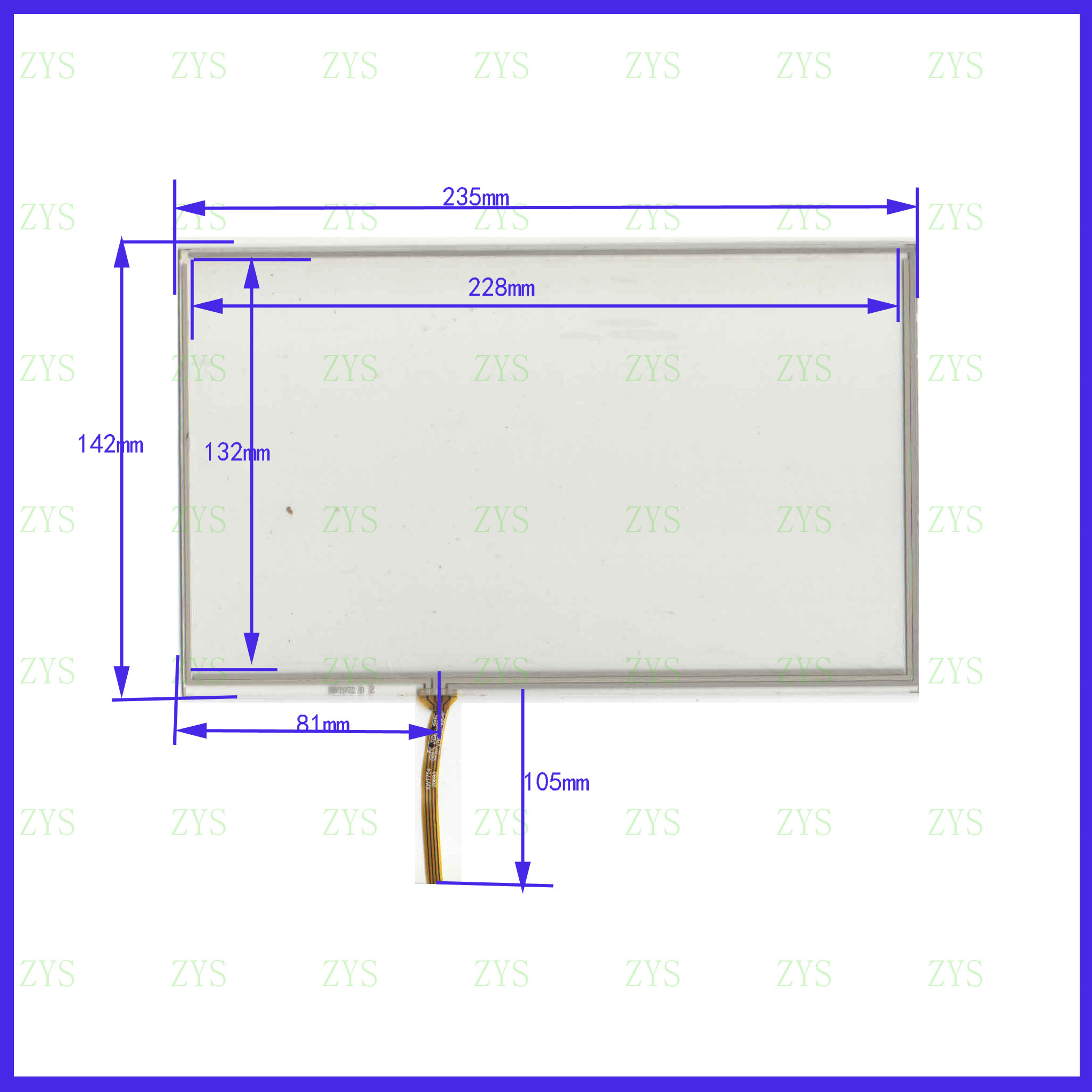 XWT972  235*142MM 10.1inch 4lines Resistance Screen For Car  DVD Redio This Is Compatible XWT 972
