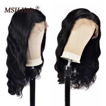 MSH Hair Lace Front Wigs 13x4 Brazilian Body Wave Human Hair Wigs 150% Density Remy Pre Plucked with Baby Hair For Black Women body wave lace front wigs 150 density 13x4 lace front human hair wigs with baby hair brazilian remy human hair lace closure wigs