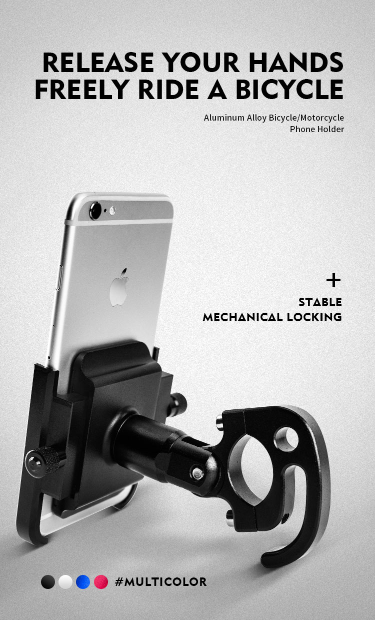 Motorcycle Mobile Phone Holder Suitable for Bicycles/Motorcycles/Electric Vehicles/Scooters 6