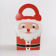 10pcs/lot Merry Christmas Santa Claus Hand Gift Box Small Size Party Portable Paper Candy Boxes