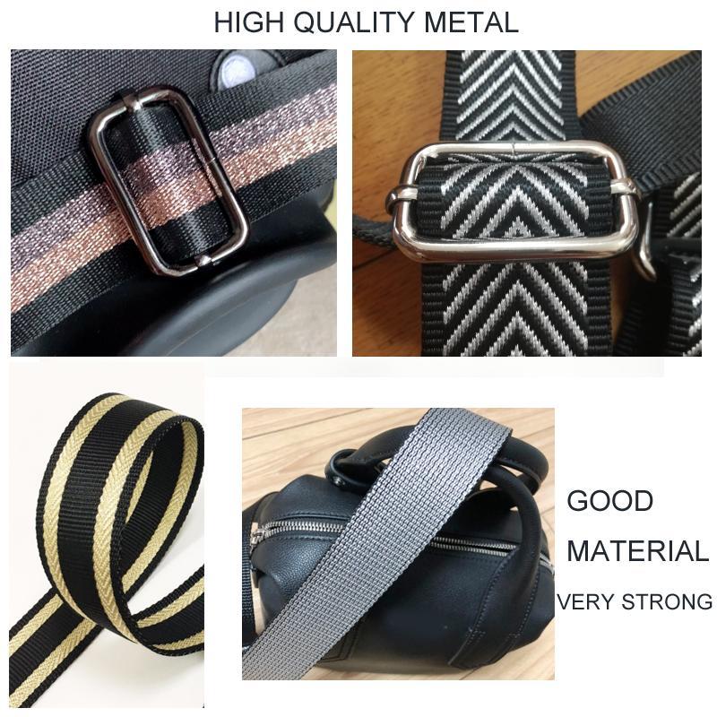 Rainbow Colorful Bag Straps Nylon Handbag Belt Adjustable Wide Shoulder Bag Strap Replacement Bags Belt Accessory Bags Part 2021