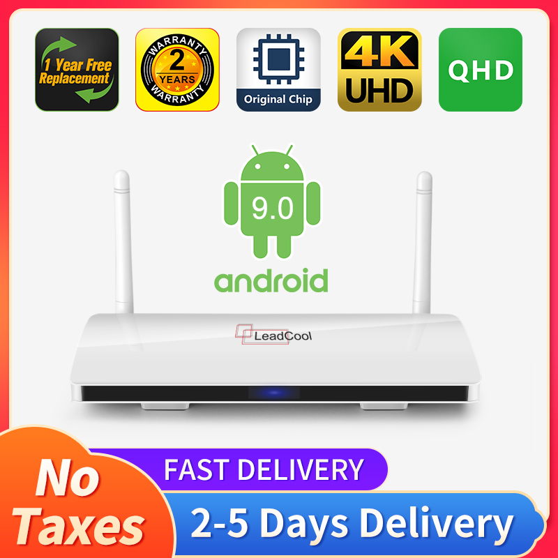 QHD Android 9 0 Leadcool TV box Smart tv Amlogic S905W Quad- Core 2 4Gwifi  VP9 H 265 QHD 4K Android TV receiver NO app included