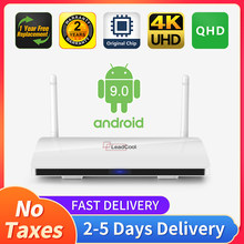 Qhd android 9.0 leadcool tv caixa smart tv amlogic s905w quad-core 2.4gwifi vp9 h.265 qhd 4k receptor de tv android nenhum aplicativo incluído