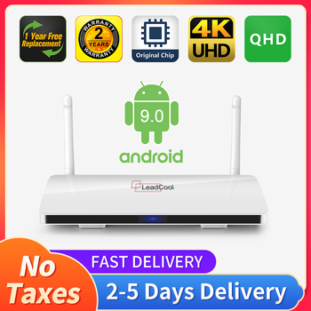 QHD Android 9.0 Leadcool TV box Smart tv Amlogic S905W Quad- Core 2.4Gwifi VP9 H.265 QHD 4K Android TV receiver NO app included