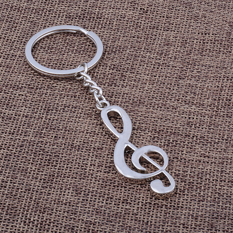 Alloy Musical Note Key Chain Car Key Ring Bag pendant Keychain For Men Women Gift Jewelry Accessories Decorative Ornament