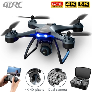 New F5 GPS 4DRC RC Drone 1080p 4k 6k Profession HD Wide Angle Camera Quadcopter WiFi FPV Air Pressure Altitude Hold Helicopter 2