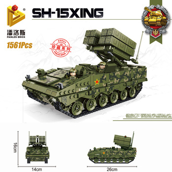 Technic ww2  Military Building Blocks Anti-tank missile Moc Bricks Truck DIY Toys For Kids Mini Figure Soldiers Model Kit Gifts xingbao technic new military series 06033 the uk challenger2 main battle tank model blocks bricks toys figure christmas gifts