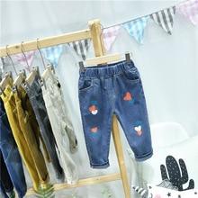 Trousers Kids Pants Jeans Girls Children's Denim Autumn Fashion Cotton Spring HOT