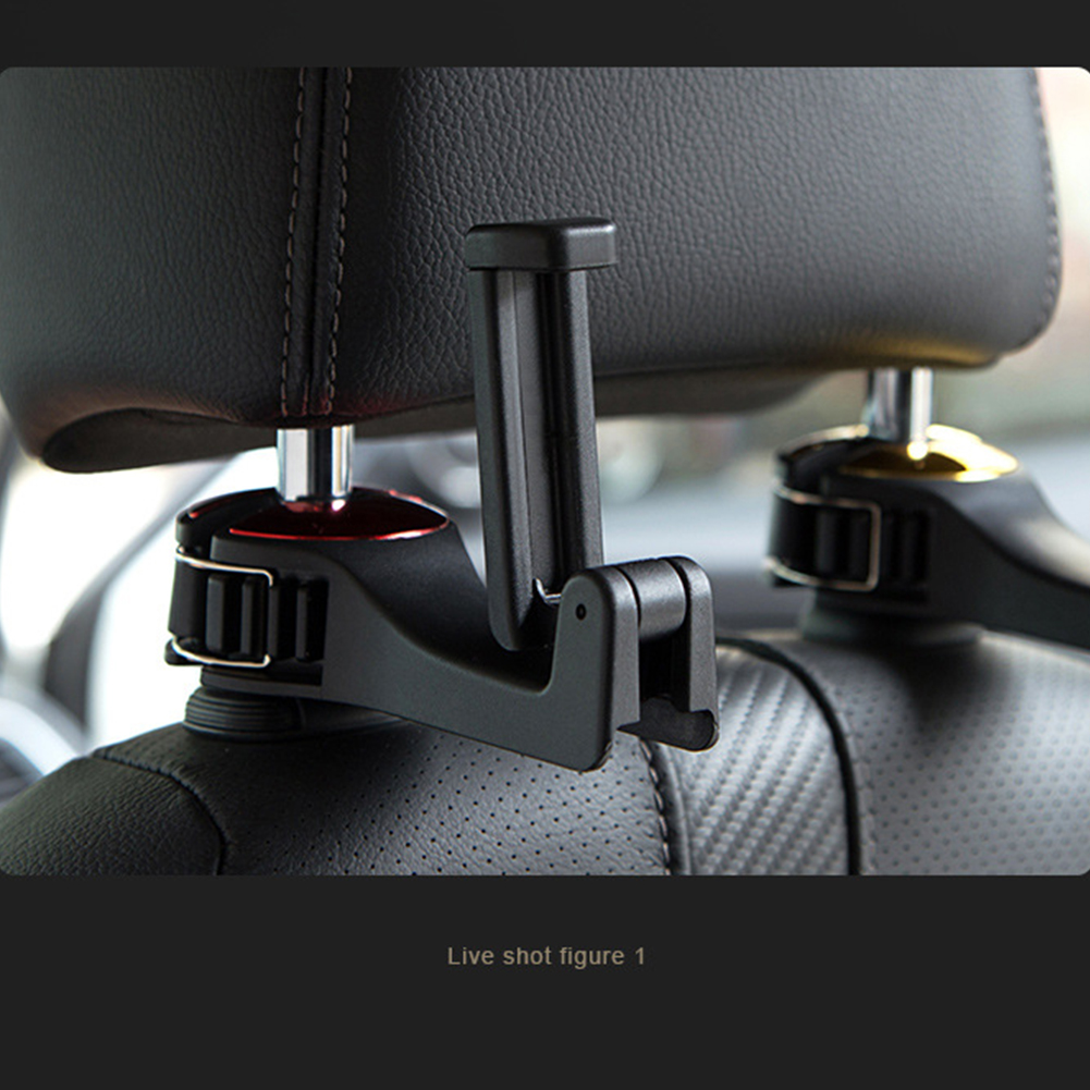 Car Seat Headrest Holder Carrier ABS Car Hook 2 In 1 Multifunctional Portable Universal Phone Holder Car Hook image